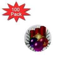Candles Christmas Tree Decorations 1  Mini Magnets (100 pack)