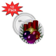 Candles Christmas Tree Decorations 1.75  Buttons (10 pack)