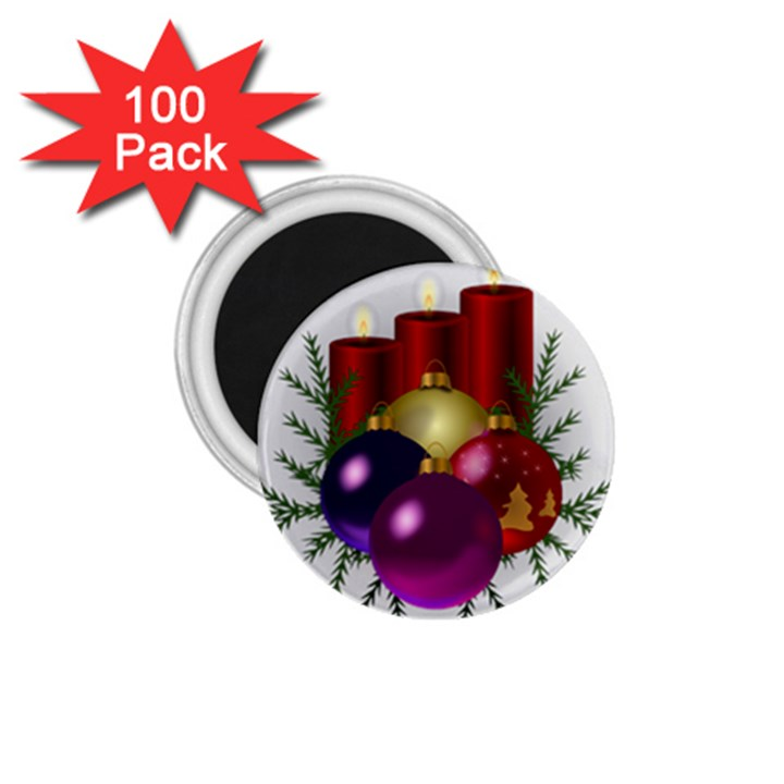 Candles Christmas Tree Decorations 1.75  Magnets (100 pack)