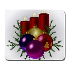 Candles Christmas Tree Decorations Large Mousepads