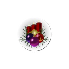 Candles Christmas Tree Decorations Golf Ball Marker (10 pack)