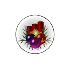 Candles Christmas Tree Decorations Hat Clip Ball Marker (4 pack)