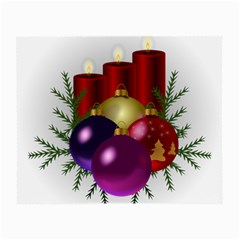 Candles Christmas Tree Decorations Small Glasses Cloth