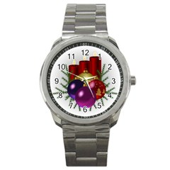 Candles Christmas Tree Decorations Sport Metal Watch