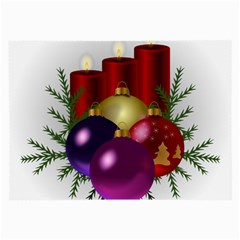 Candles Christmas Tree Decorations Large Glasses Cloth