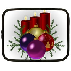 Candles Christmas Tree Decorations Netbook Case (Large)