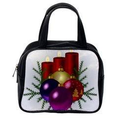 Candles Christmas Tree Decorations Classic Handbags (One Side)