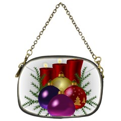 Candles Christmas Tree Decorations Chain Purses (One Side)