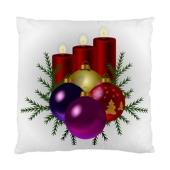 Candles Christmas Tree Decorations Standard Cushion Case (One Side)