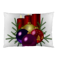 Candles Christmas Tree Decorations Pillow Case