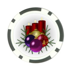Candles Christmas Tree Decorations Poker Chip Card Guard (10 pack)