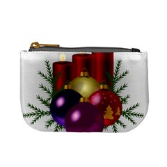 Candles Christmas Tree Decorations Mini Coin Purses