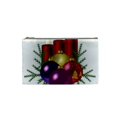 Candles Christmas Tree Decorations Cosmetic Bag (Small)