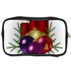 Candles Christmas Tree Decorations Toiletries Bags 2-Side