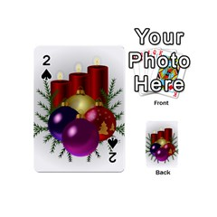 Candles Christmas Tree Decorations Playing Cards 54 (Mini)