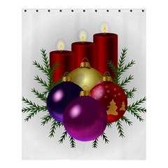 Candles Christmas Tree Decorations Shower Curtain 60  x 72  (Medium)