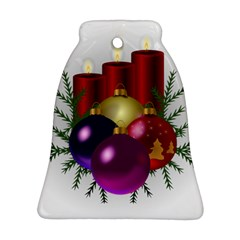 Candles Christmas Tree Decorations Ornament (Bell)