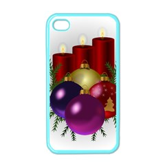 Candles Christmas Tree Decorations Apple iPhone 4 Case (Color)