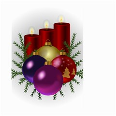 Candles Christmas Tree Decorations Large Garden Flag (Two Sides)