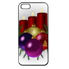 Candles Christmas Tree Decorations Apple iPhone 5 Seamless Case (Black)