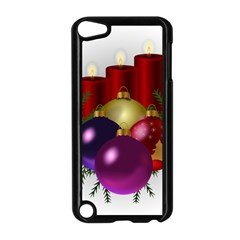 Candles Christmas Tree Decorations Apple iPod Touch 5 Case (Black)