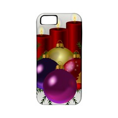 Candles Christmas Tree Decorations Apple iPhone 5 Classic Hardshell Case (PC+Silicone)