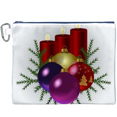Candles Christmas Tree Decorations Canvas Cosmetic Bag (XXXL)