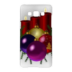 Candles Christmas Tree Decorations Samsung Galaxy A5 Hardshell Case