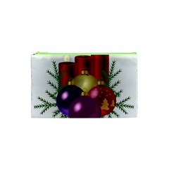 Candles Christmas Tree Decorations Cosmetic Bag (XS)