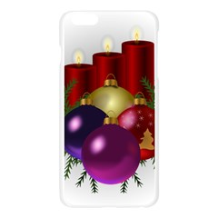 Candles Christmas Tree Decorations Apple Seamless iPhone 6 Plus/6S Plus Case (Transparent)
