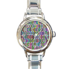 Psychedelic 70 S 1970 S Abstract Round Italian Charm Watch