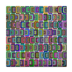 Psychedelic 70 S 1970 S Abstract Tile Coasters