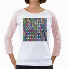 Psychedelic 70 S 1970 S Abstract Girly Raglans