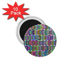 Psychedelic 70 S 1970 S Abstract 1.75  Magnets (10 pack)