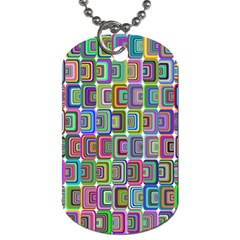 Psychedelic 70 S 1970 S Abstract Dog Tag (Two Sides)