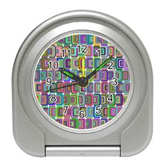 Psychedelic 70 S 1970 S Abstract Travel Alarm Clocks