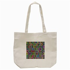 Psychedelic 70 S 1970 S Abstract Tote Bag (Cream)