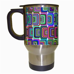 Psychedelic 70 S 1970 S Abstract Travel Mugs (White)