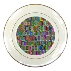Psychedelic 70 S 1970 S Abstract Porcelain Plates
