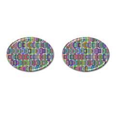 Psychedelic 70 S 1970 S Abstract Cufflinks (Oval)