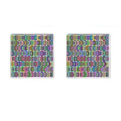 Psychedelic 70 S 1970 S Abstract Cufflinks (Square)