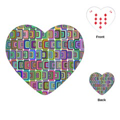Psychedelic 70 S 1970 S Abstract Playing Cards (Heart)