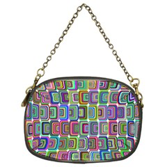 Psychedelic 70 S 1970 S Abstract Chain Purses (Two Sides)