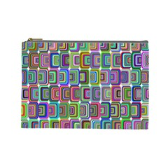 Psychedelic 70 S 1970 S Abstract Cosmetic Bag (Large)