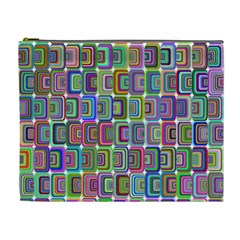 Psychedelic 70 S 1970 S Abstract Cosmetic Bag (XL)
