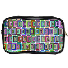 Psychedelic 70 S 1970 S Abstract Toiletries Bags 2-Side