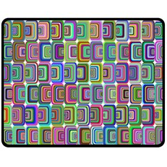 Psychedelic 70 S 1970 S Abstract Fleece Blanket (Medium)