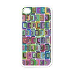 Psychedelic 70 S 1970 S Abstract Apple iPhone 4 Case (White)