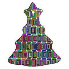 Psychedelic 70 S 1970 S Abstract Christmas Tree Ornament (Two Sides)