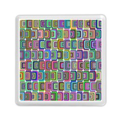 Psychedelic 70 S 1970 S Abstract Memory Card Reader (Square)